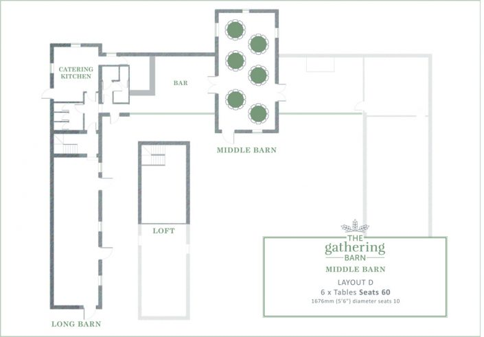 The Gathering Barn - Middle Barn Table Layout D