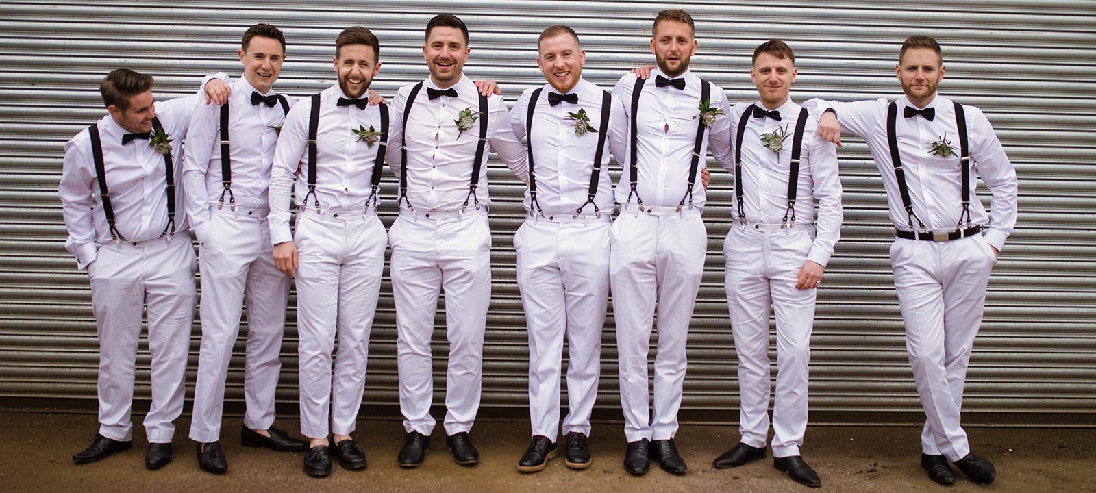Men in white by Flynn Guard